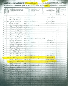 1850 Census Forestburgh, Sullivan Co., New York