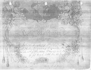 Marriage certificate Margaret H. Ferguson & J.L. Dougherty