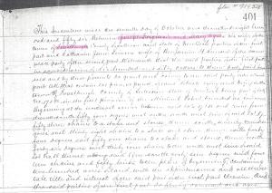 1856 Land Deed Forestburgh New York