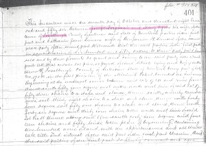 1856 Land Deed Forestburgh New York