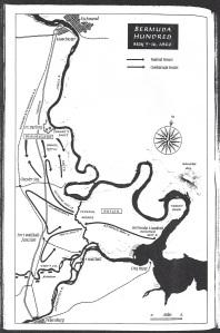 Bermuda Hundred Map May 5-16 1864