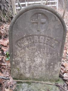 George L. Kornmeyer son of J & JL Kornmeyer source: Find a Grave photo by Joseph Pfeiffer Jr.