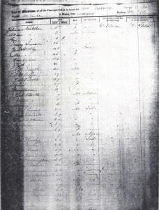 Ships passenger List