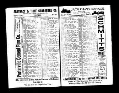 1932 Visalia City Directory
