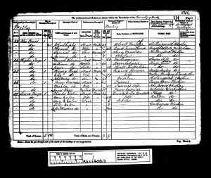 1881 UK Census Matley, Cheshire