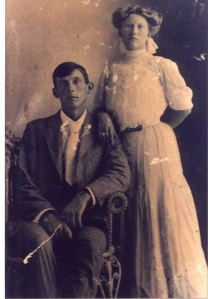 Ira (Ike)  and Etta Jane Putnam Wedding 15 July 1907