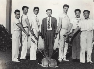 Cal Poly Fencing Team Walter Dougherty third from the right
