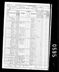 1870 US Census Visalia, Tulare County, California
