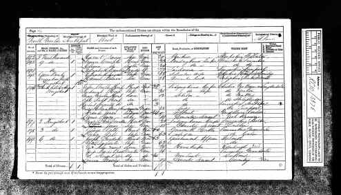 1871 UK Census Logandale Cheshire England