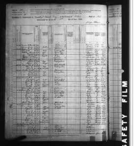 1880 US Census Kaweaha and Mineral King, Tulare County, California