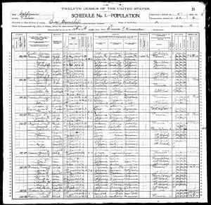 1900 US Census Orosi township, Tulare County, California