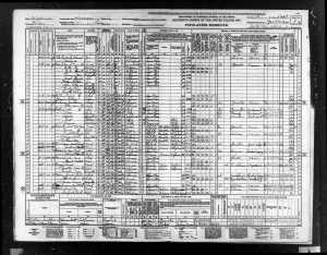 1940 US Census Visalia, Tulare County, California