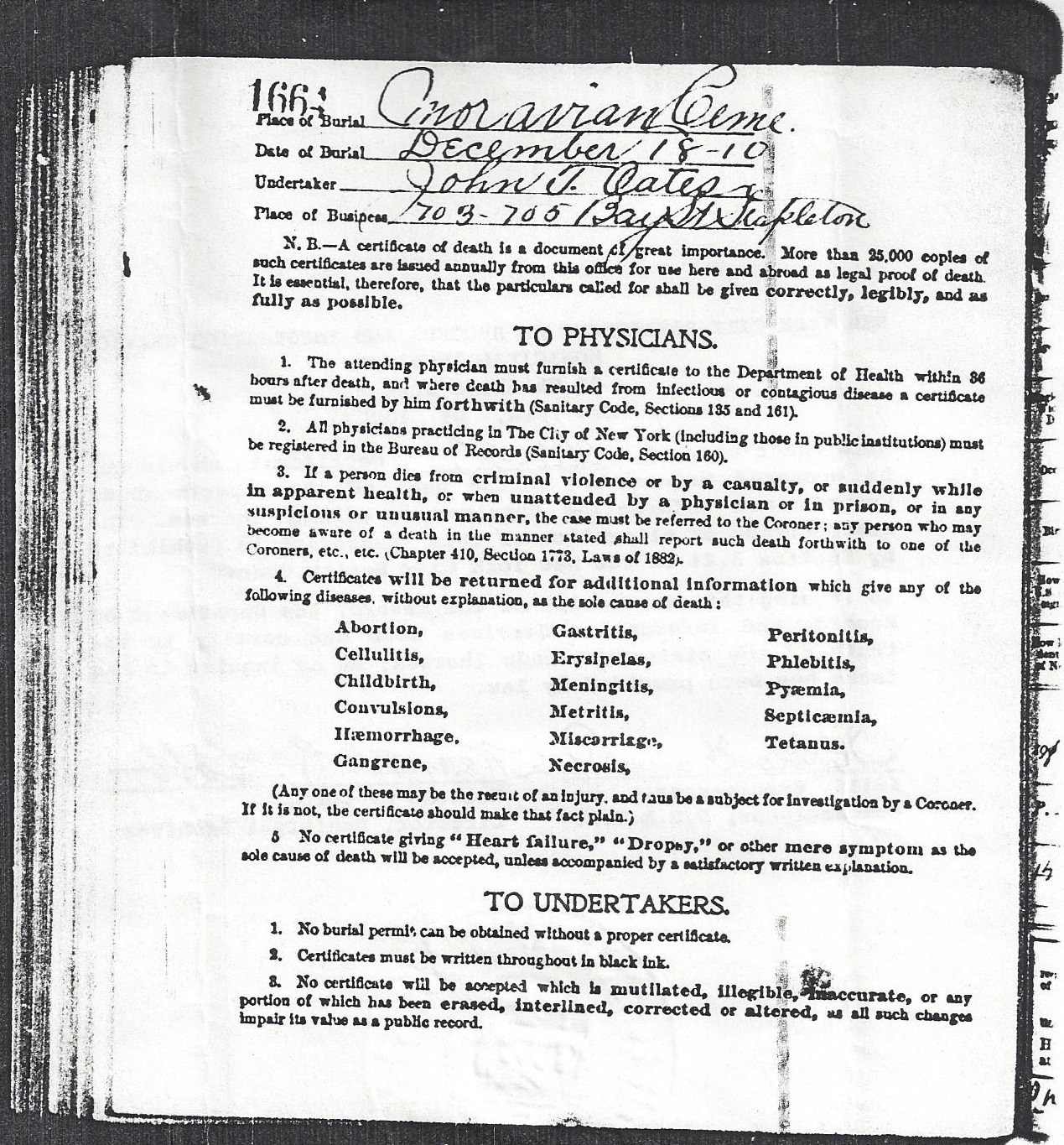 Forestburgh new york putnam sisters mary a ferguson death certificate 15 december 1910 pg2 xflitez Image collections