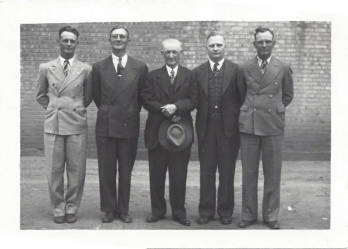 Paul, Ralph, Grandpa Case, Elmer, and Horace