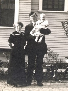 "Etta, ""Ike"" and baby LLoyd"