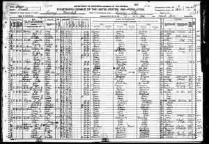 1920 US Census Luray, Russell County Kansas