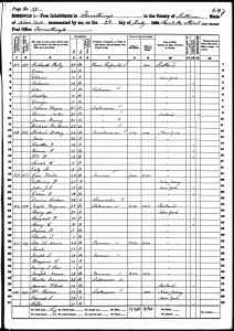 1860 US Census Forrestburg, Sullivan County, New York