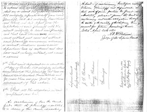 Divorce papers Joseph & Fanny Putnam