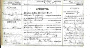 Marriage Affidavit Gilmore C. Francis and Caroline Batson
