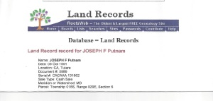 Land Record Tulare County, California From Rootsweb.com 2000