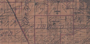1913 (partial) Parcel map Tulare County