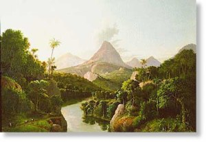 """Painting by A.D.O. Browere Crocker Art Museum, Saramento """"Crossing the Isthmus about 1860"""