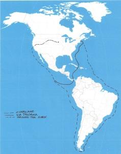 Routes to California 1849