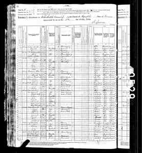 1880 US Census Elk Creek Township Republic County Kansas