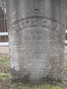 Louis Good Saint Johns Catholic Chrisoton Cemetery Hawkinsville, Oneida County, New York, USA Added by: Joseph Pfeiffer Jr to Findagrave.com