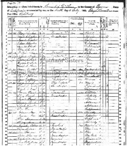 1860 US Census Fresno County California