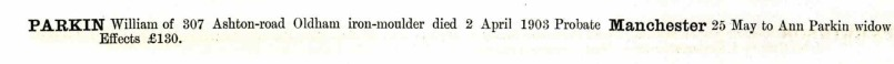 From the England and Wales National Probate Calendar