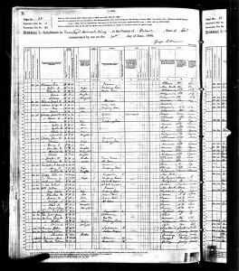 1880 US Census Mineral King, Tulare, California
