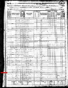 1870 US Census West Zanesville, Ohio