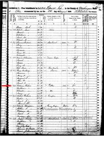 1850 US Federal Census Muskingum County, Ohio